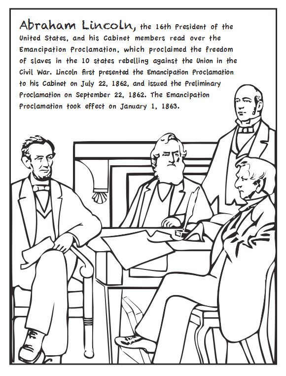 us reconstruction coloring pages - photo#6