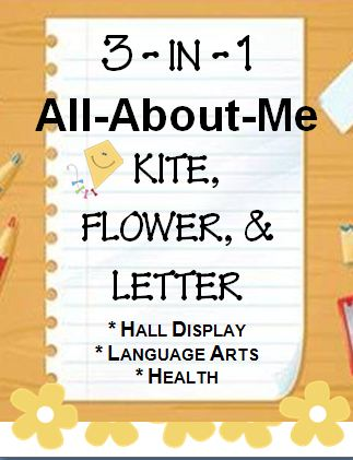 All About Me Craftivity~ Three, fun, easy, and ready-to-use craftivities! Use for health lessons, hall display, or writing lessons. Print and go!