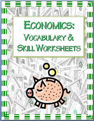 Economics Vocabulary & Worksheets~ These print-and-go activities provide practice using economics vocabulary, calculating profit, and problem-solving kid-friendly business problems. Download includes five (5) easy-to-use worksheets with full-page answer keys!