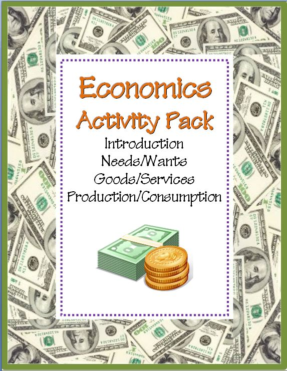 Economics Activity COMBO Pack~ These eight (8) print-and-go worksheets cover several key concepts including needs/wants, goods/services, and production/consumption. This fun, easy-to-use download bundles three (3) other products. Use these printables for introductory lessons or review. Includes full-size answer keys for each activity!