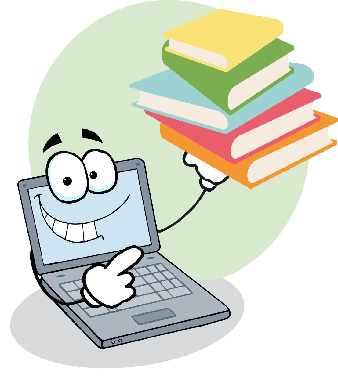 jpg_2037-Laptop-Cartoon-Character-Displays-Pile-Of-Books