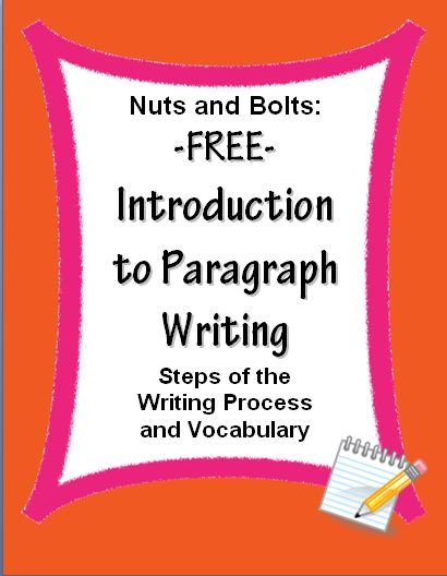 FREE Paragraph Writing Introduction~ These print-and-go worksheets include the steps of the writing process and key vocabulary. Use these printables to support any writing program. Other companion products are available.