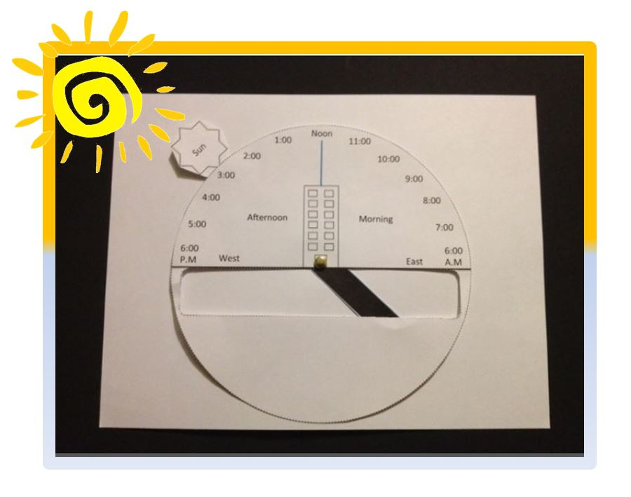 FREE Science Activity~ Students create this easy-to-make model that shows how the sun casts shadows during different times of the day. Informative and fun visual resource!