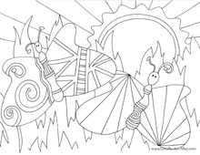 FREE Coloring Pages~ This is my new favorite site for coloring pages. Each one has lots of details that make coloring so fun! Check out the ram, gecko, lion, and ocean scenes. Love these!