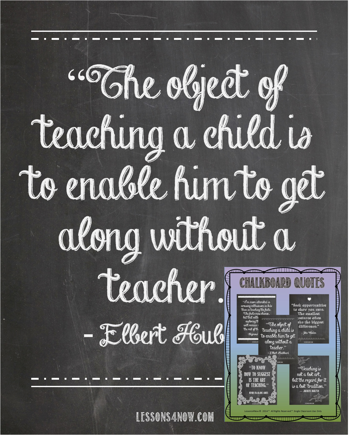 Blog marked Object of teaching poster