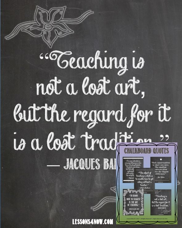 Chalkboard Quotes Free Printables Lessons4now