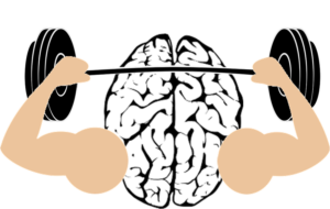 frustration muscle with brain image free use